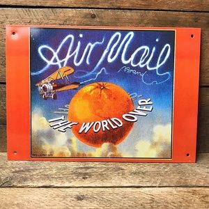 Air Mail Brand Orange – Nostalgic Tin Sign